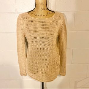 New York and company tan medium knitted top